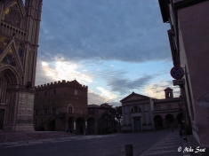 Orvieto piazza morning